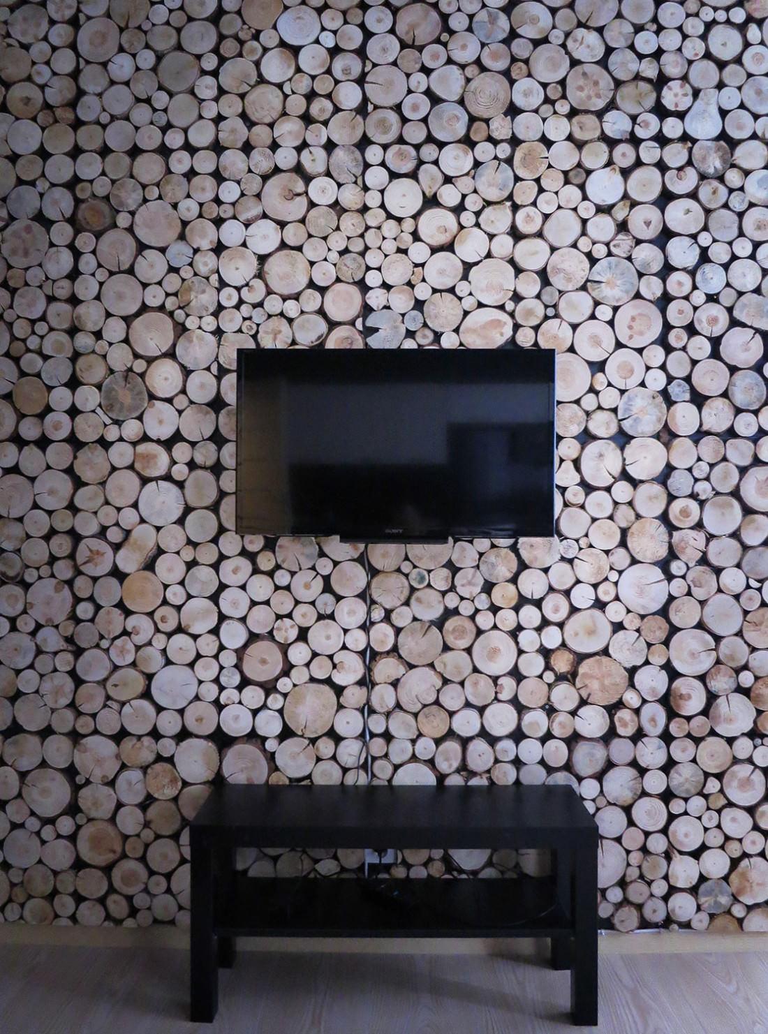 Panele drewniane w projekcie mieszkania w Karpaczu